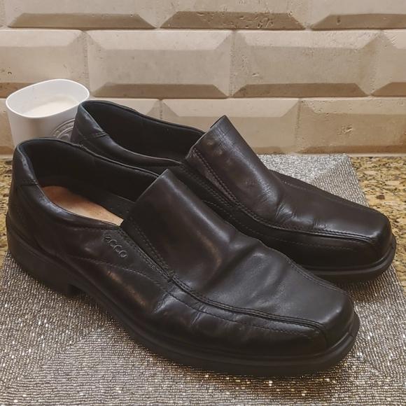 ECCO Helsinki Black Leather Loafer Shoes EU 47